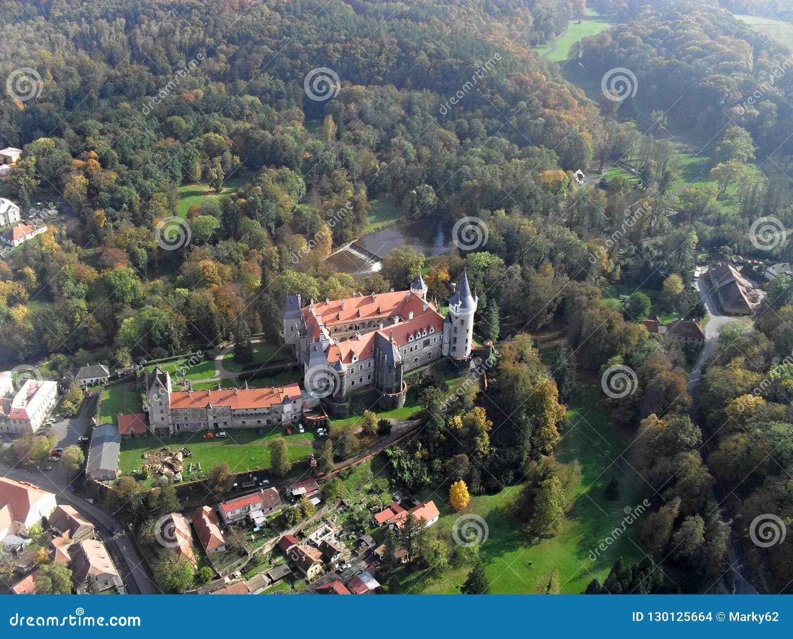Castle Zleby in Czech Republic