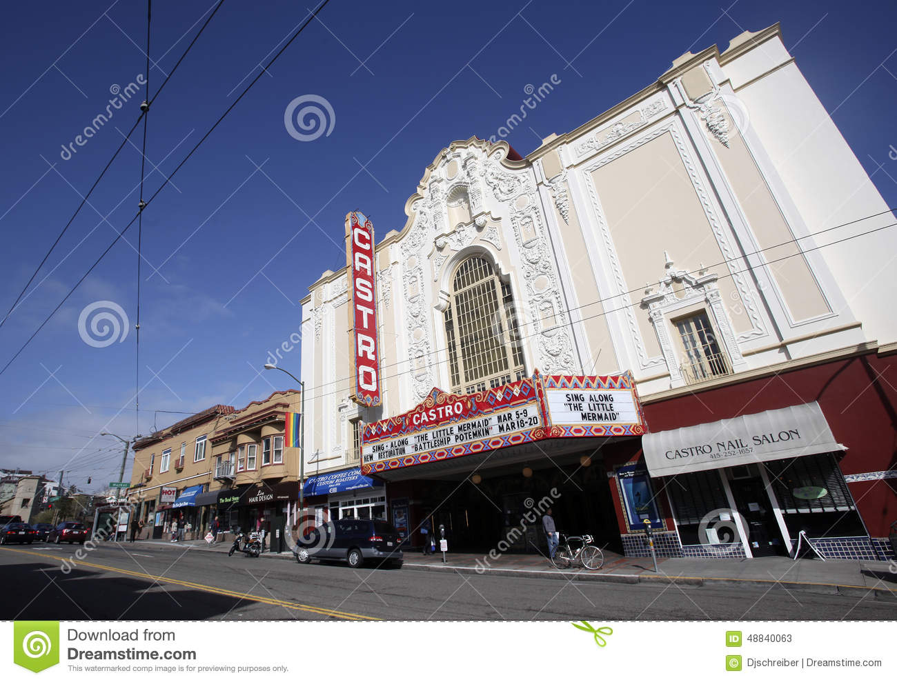 castro theatre, san francisco editorial stock photo - image of