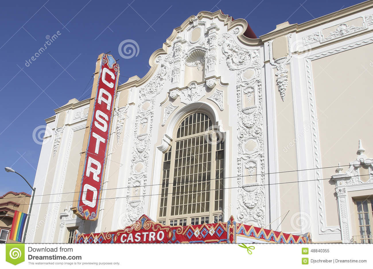 castro theatre, san francisco editorial image - image of ocean