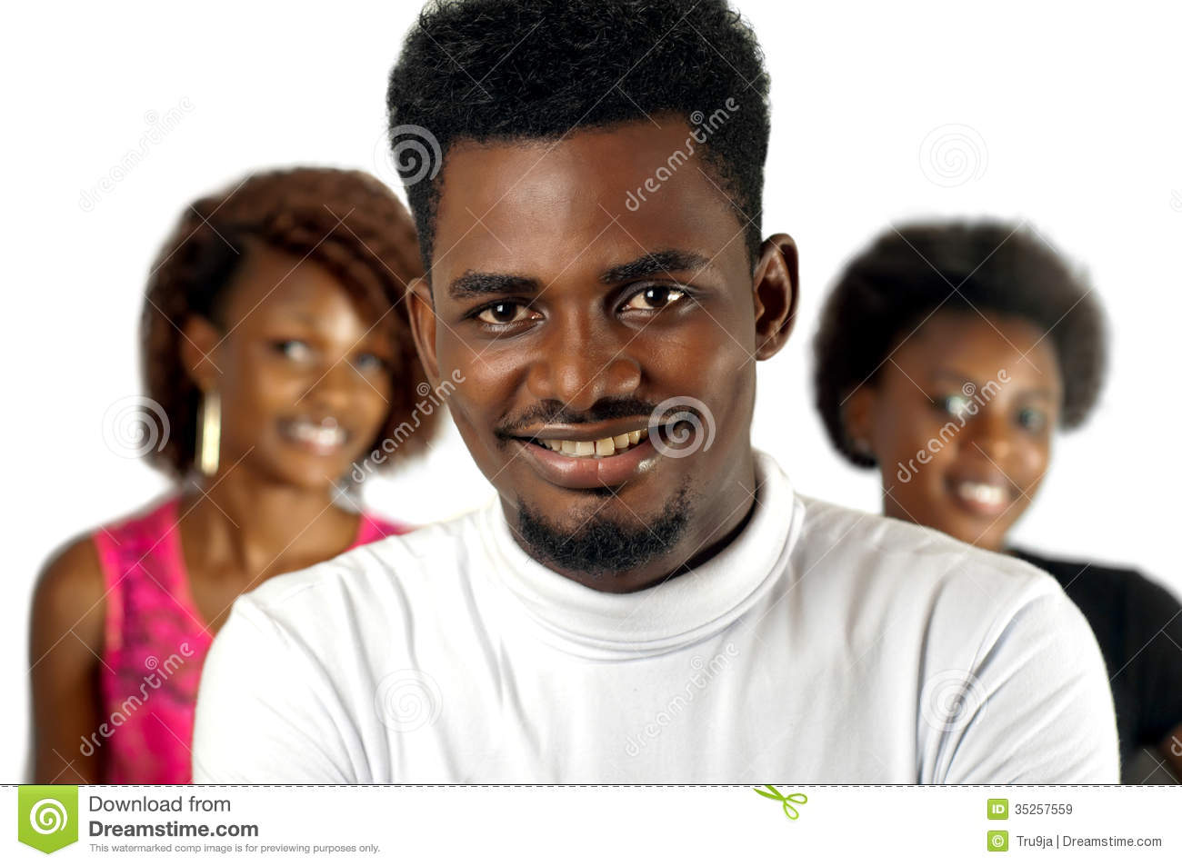 Download Casual African Man With Female Friends Stock Image - Image of smiling, education: 35257559