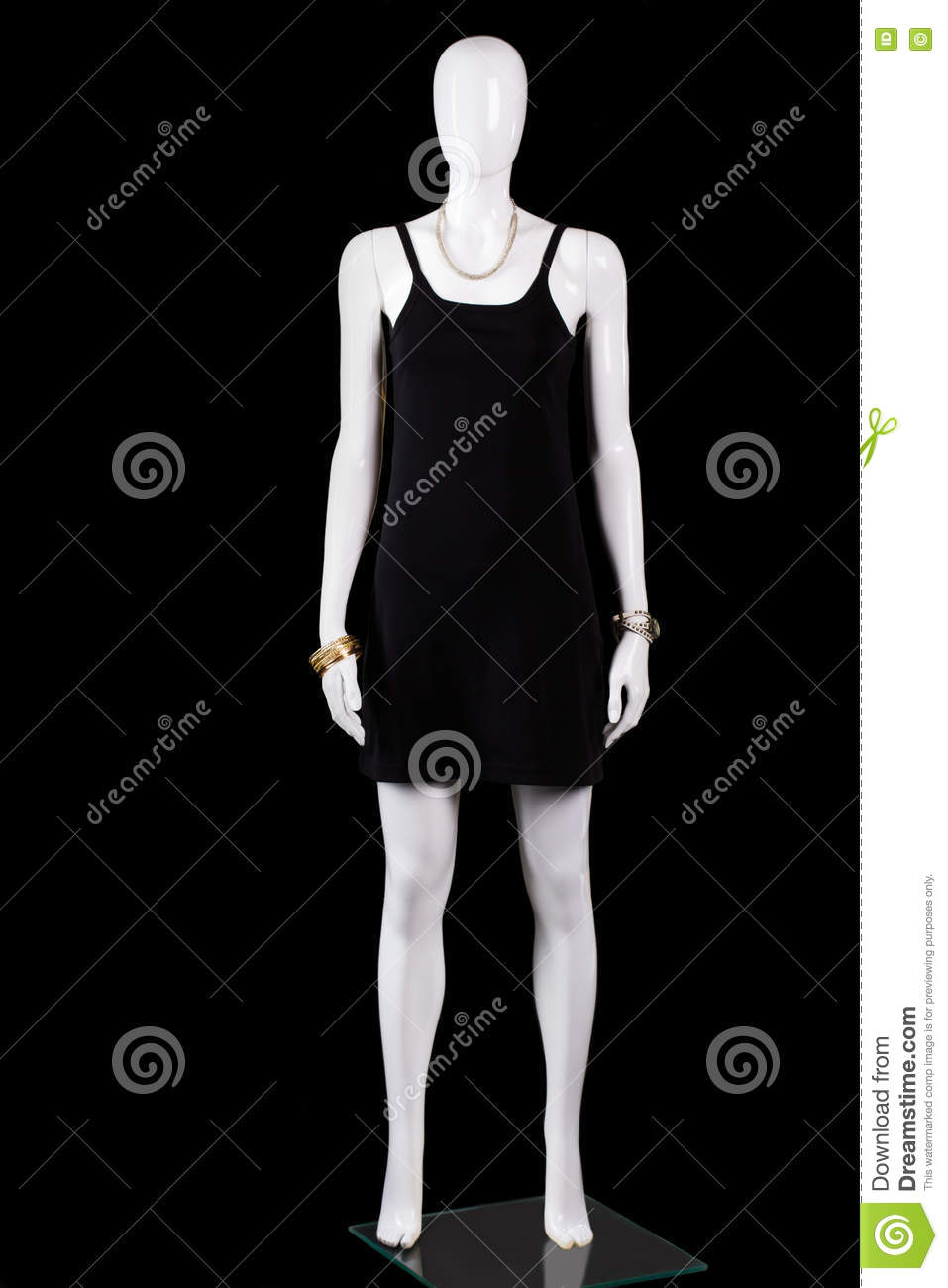 f7ed5ea69ac5a Casual Black Sleeveless Dress. Stock Image - Image of attractive ...