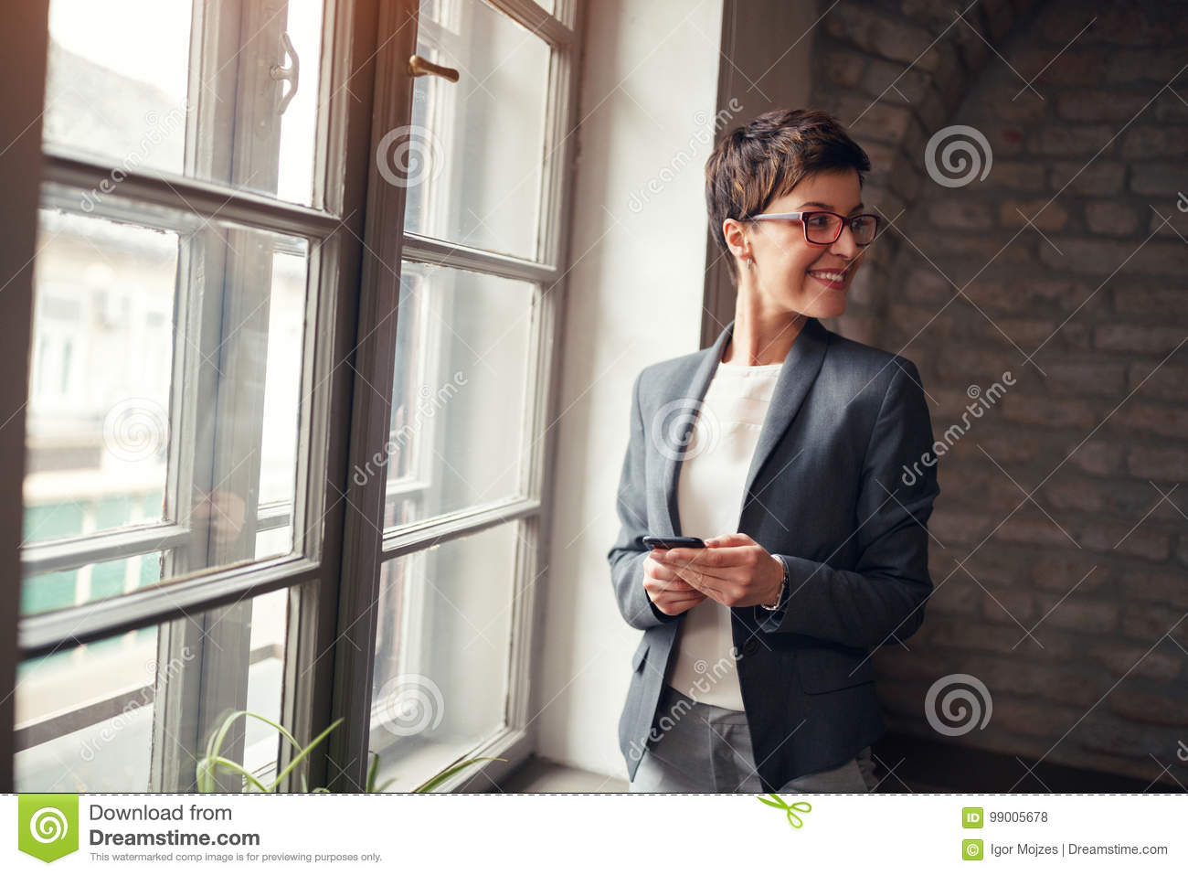 Download Casual Business-leader Woman Stock Photo - Image of businesswoman, architect: 99005678