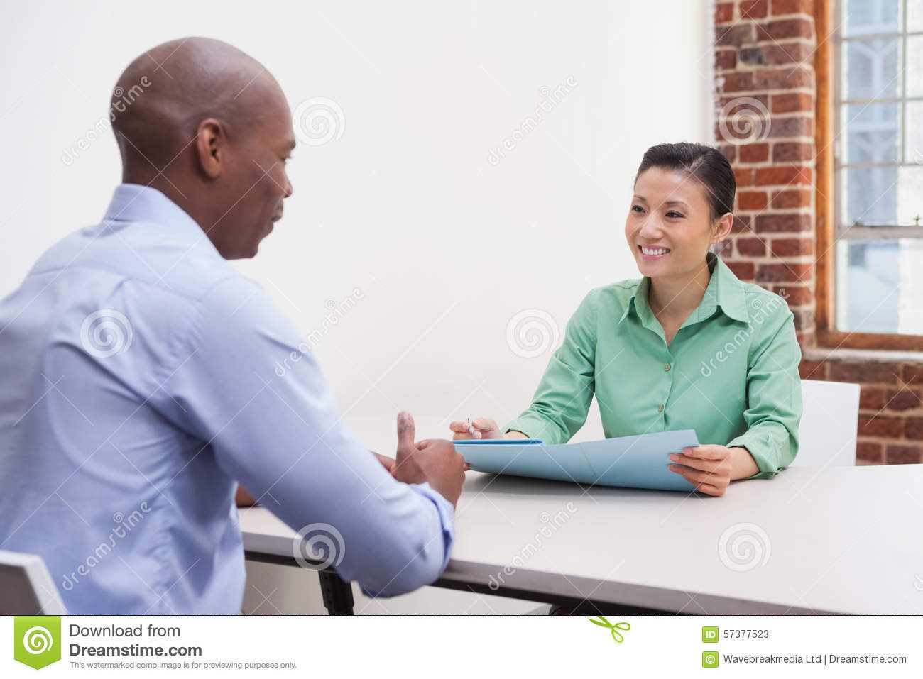 Casual Business People At Meeting In The Office Stock ... |Relaxed Business Person