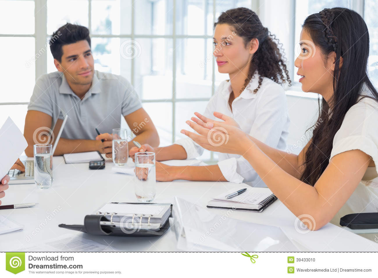 Casual Business Team Having A Meeting Stock Photo Image 39433010