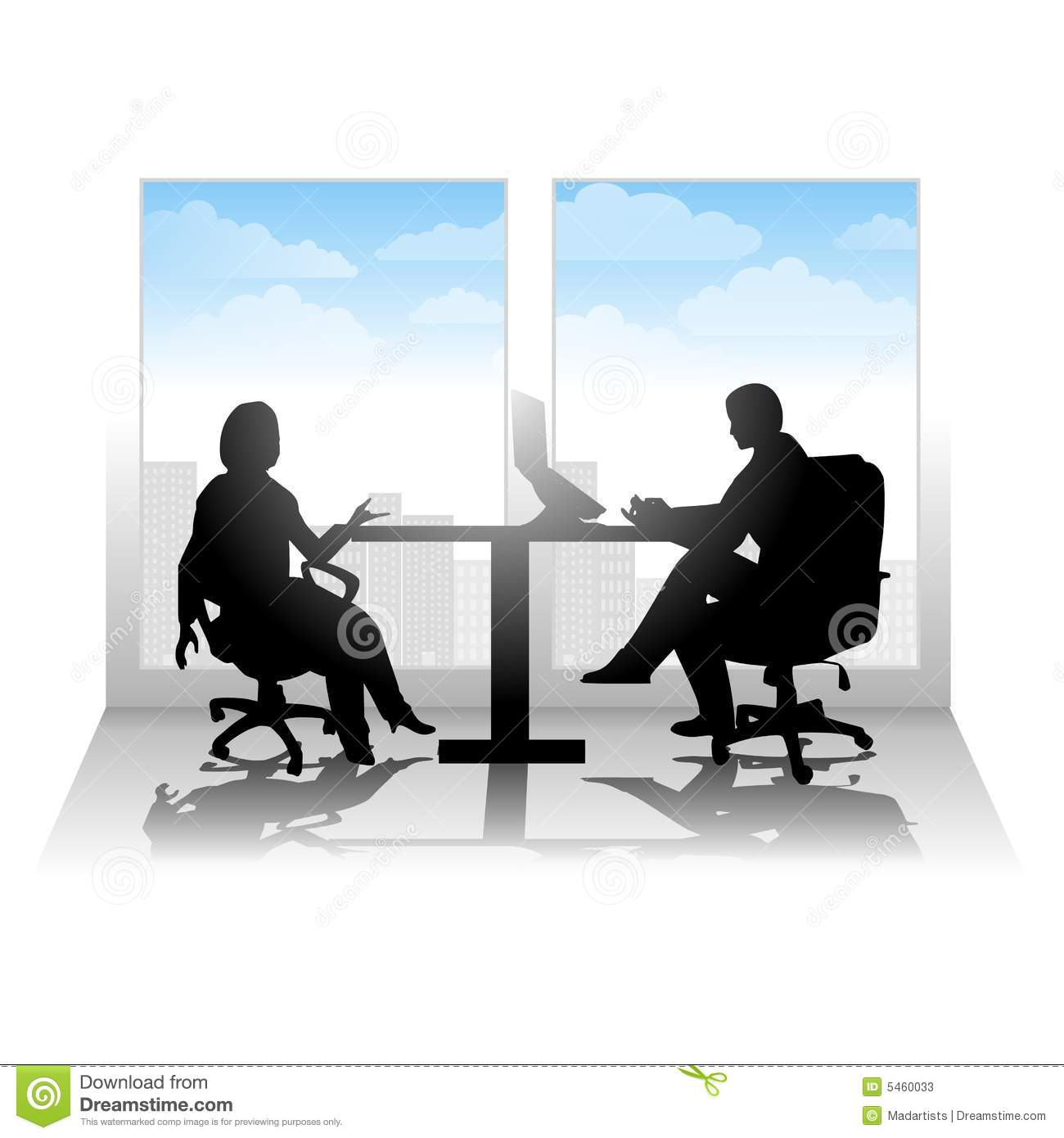 Casual City Interview Meeting Stock s Image