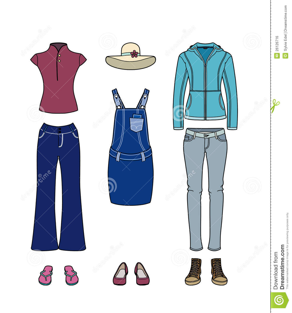 Casual Clothes For Women Royalty Free Stock Image - Image: 26126716