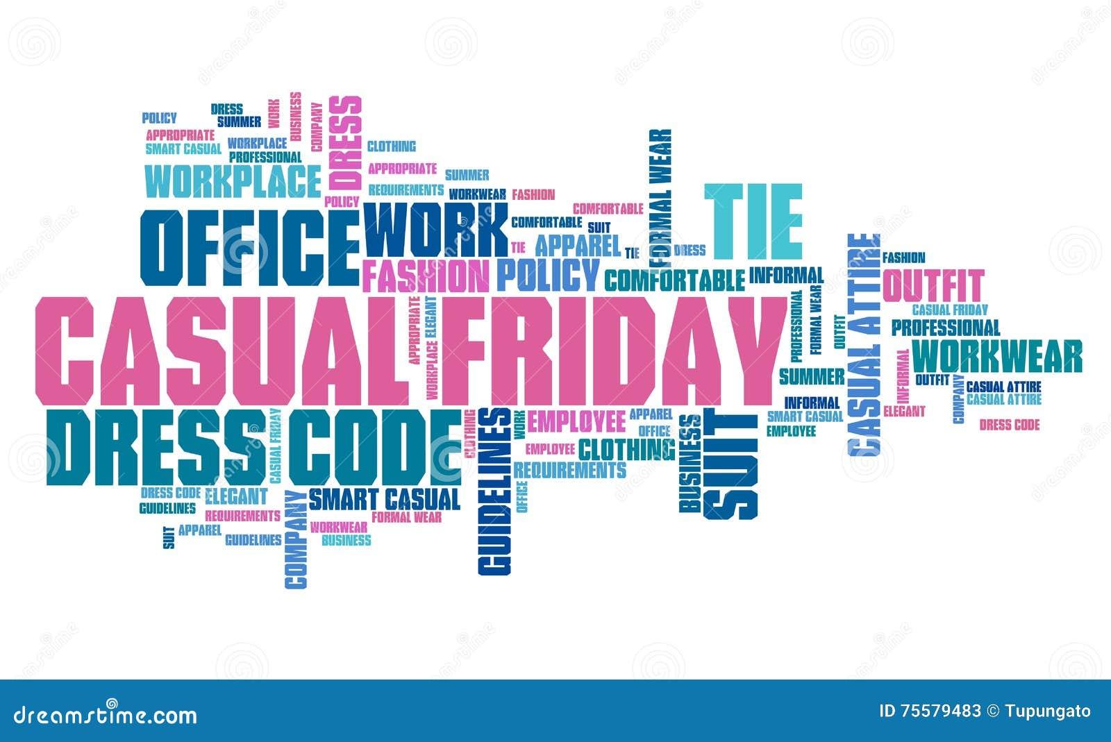 Casual Friday Stock Illustration Illustration Of Words 75579483