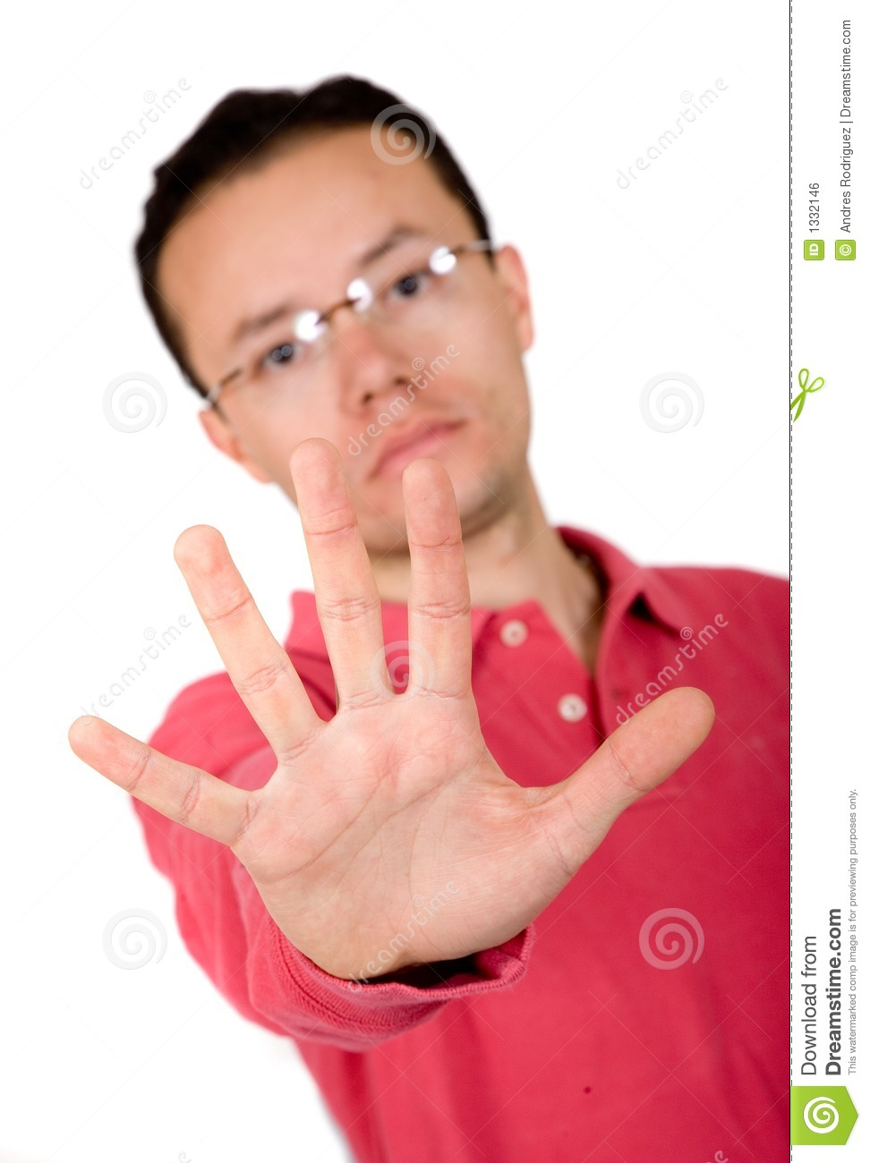 Casual guy hand - stop stock photo. Image of person ...