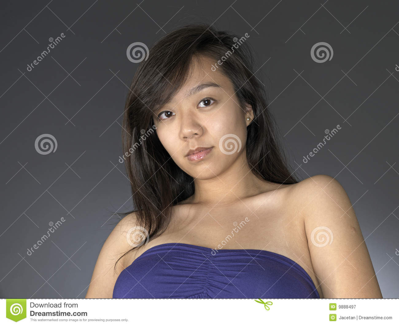 Casual Looking Asian Woman