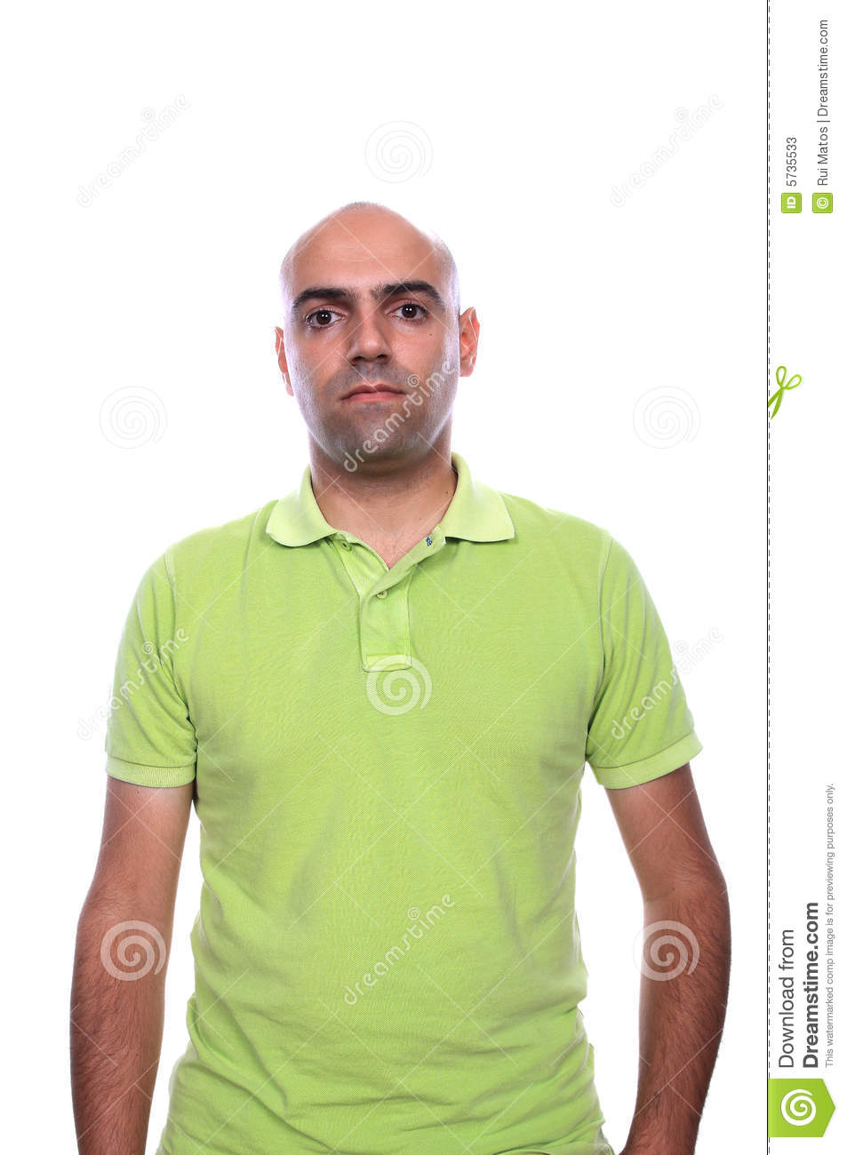 Handsome thirties man in white polo shirt stock image for Man in polo shirt