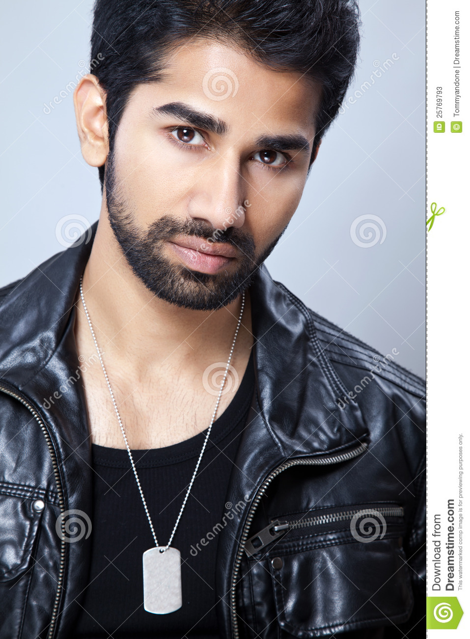 Casual Man Wearing A Leather Jacket Stock Photos - Image: 25769793