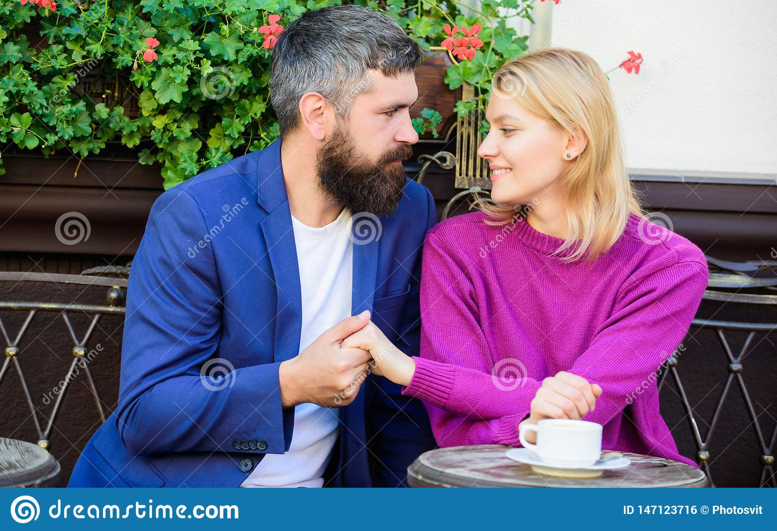 Casual meet acquaintance public place. Romantic couple. Normal way to meet and connect with other single people. Meet