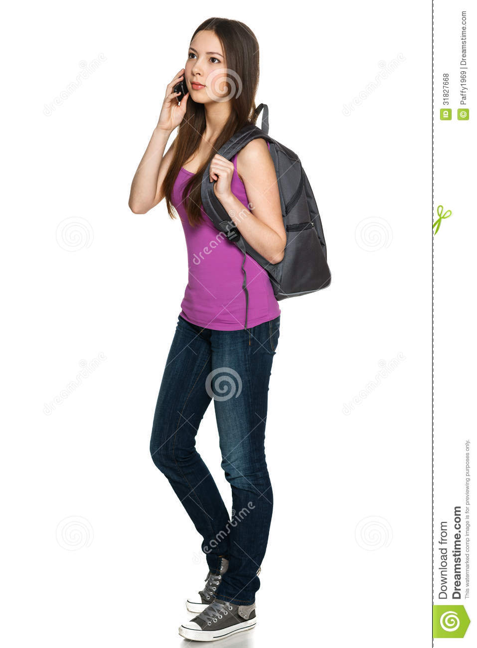 ... cell-phone-full-legnth-young-female-cellphone-looking-away-against