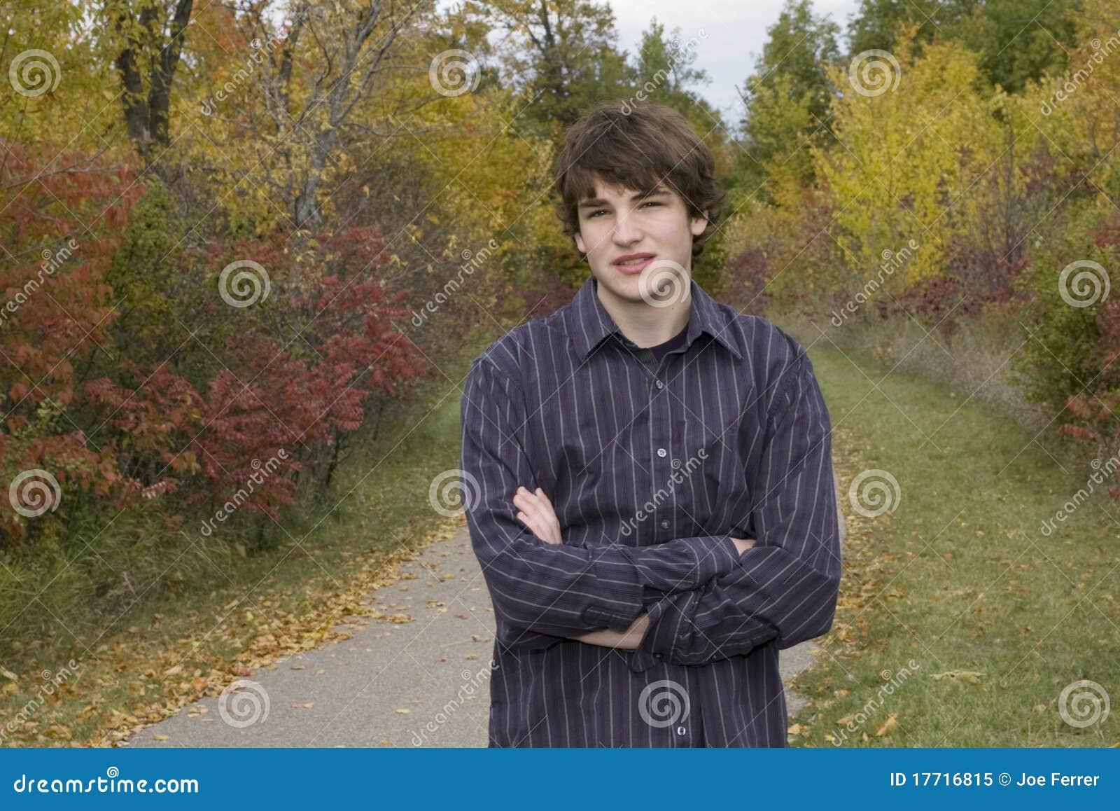 Casual Teen Portrait in Park