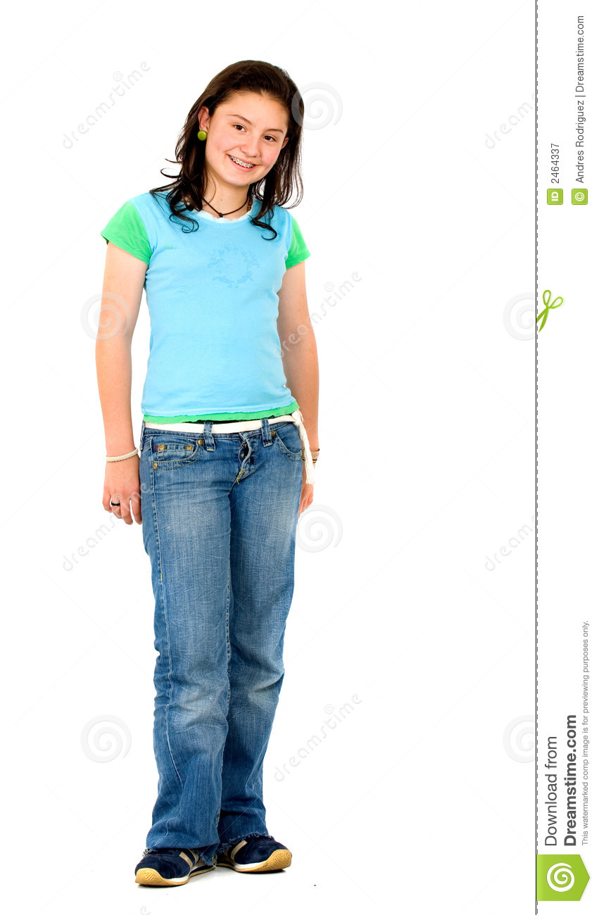 casual teenager standing stock image image of isolated