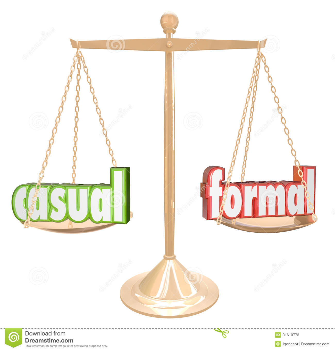 compare formal and informal communication Formal and informal speaking includes: recognising formal and informal language identifying language to suit the situation using formal and informal language.