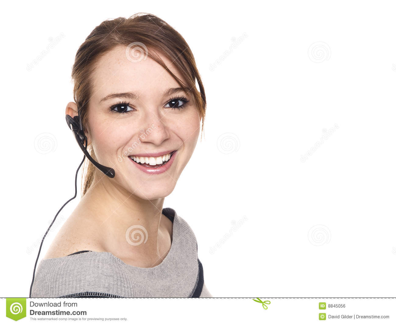 Casual woman - receptionist
