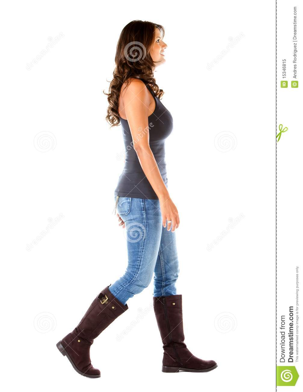 Casual Woman Walking Royalty Free Stock Photo - Image ...