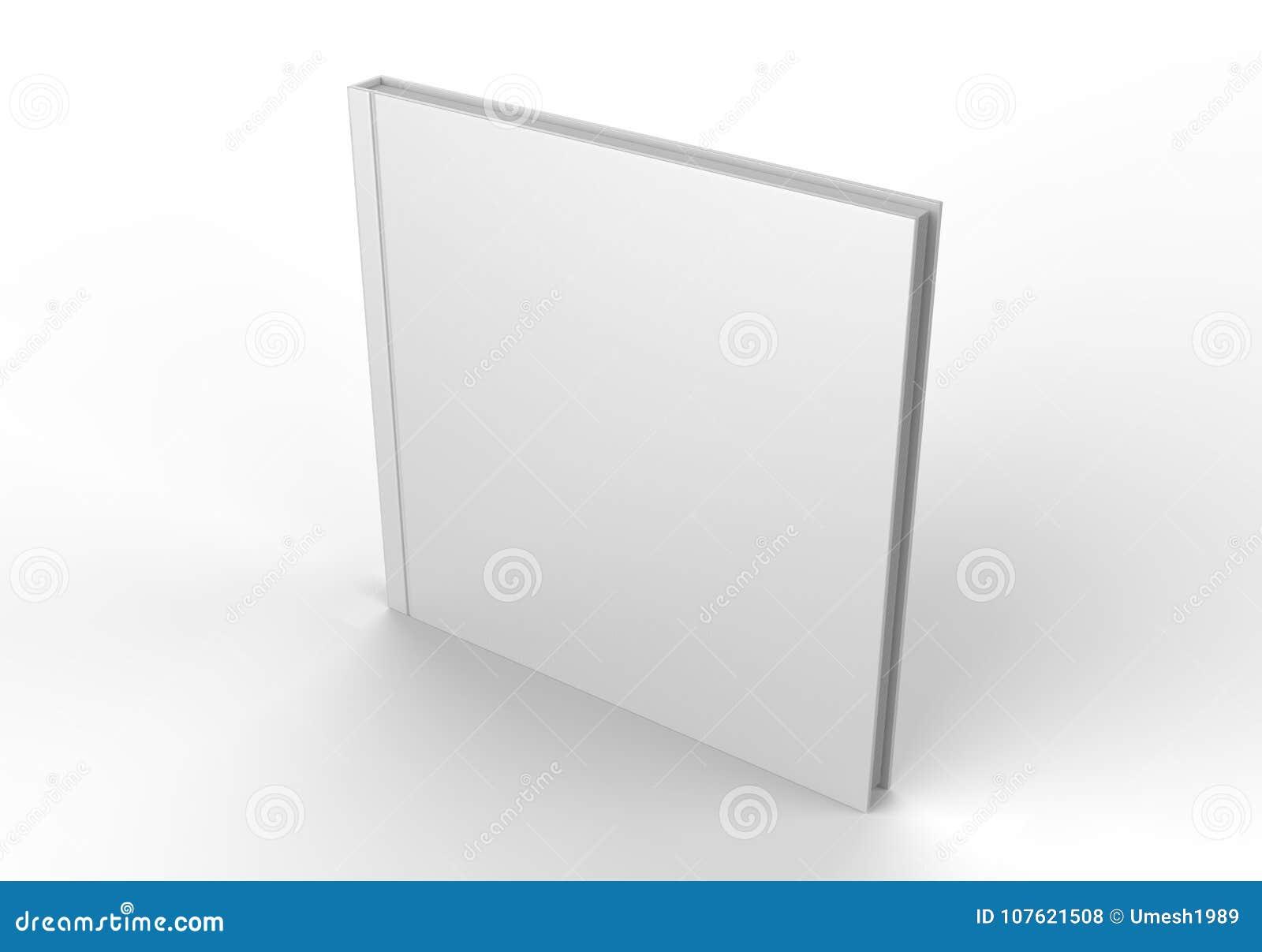 Catálogo branco vazio, compartimentos, livro para a apresentação ascendente do projeto da zombaria 3d rendem a ilustração