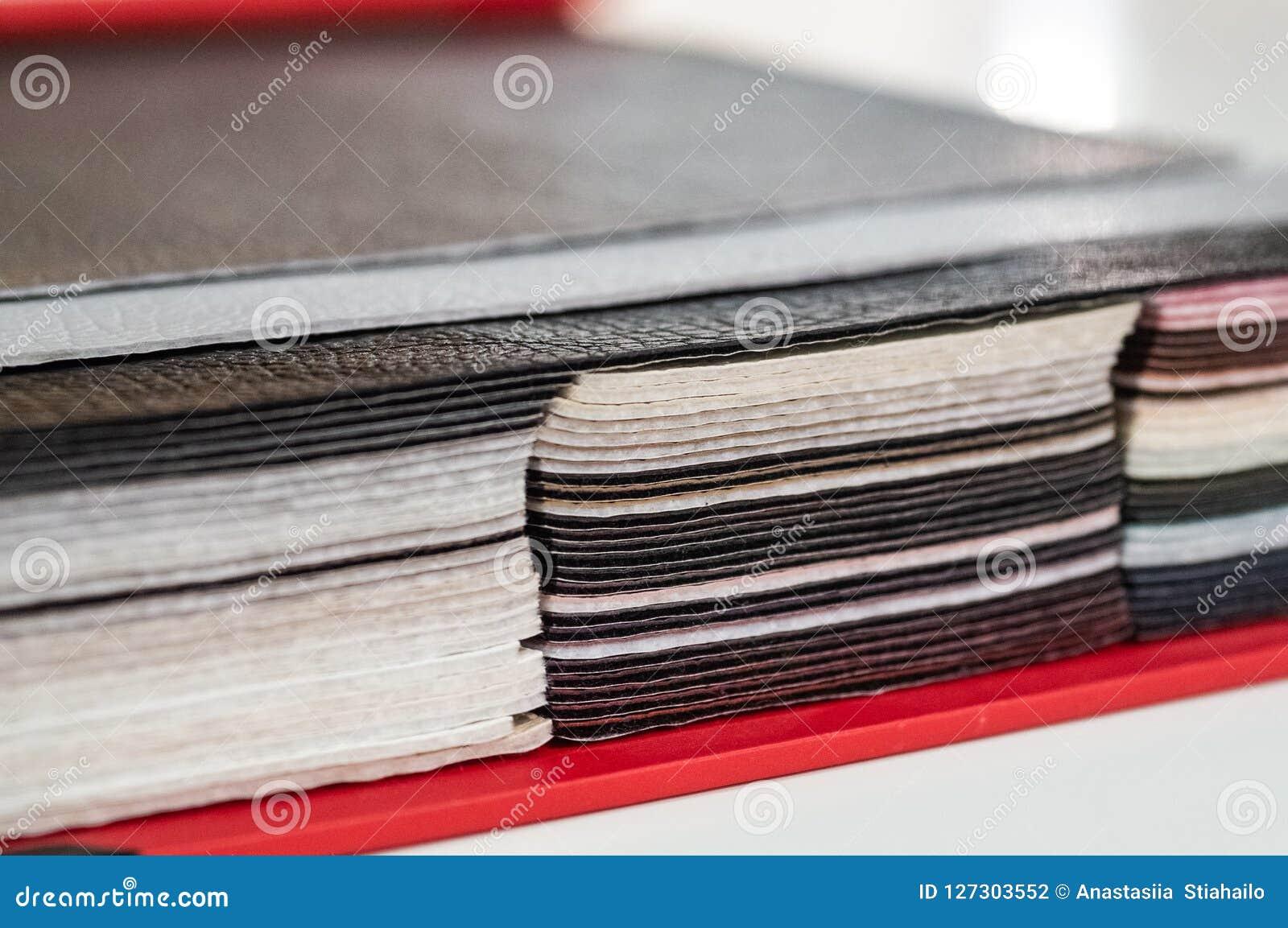 Catálogo de la piel artificial multicolora del fondo de la textura de la tela de la estera, textura de la tela de la piel sintéti