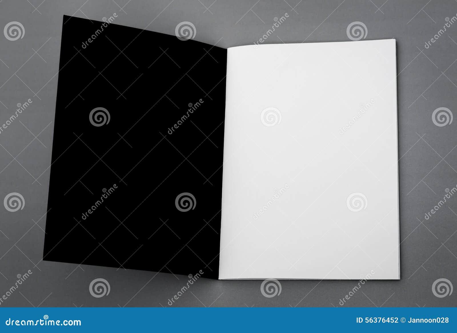 Catálogo en blanco, folleto, revistas