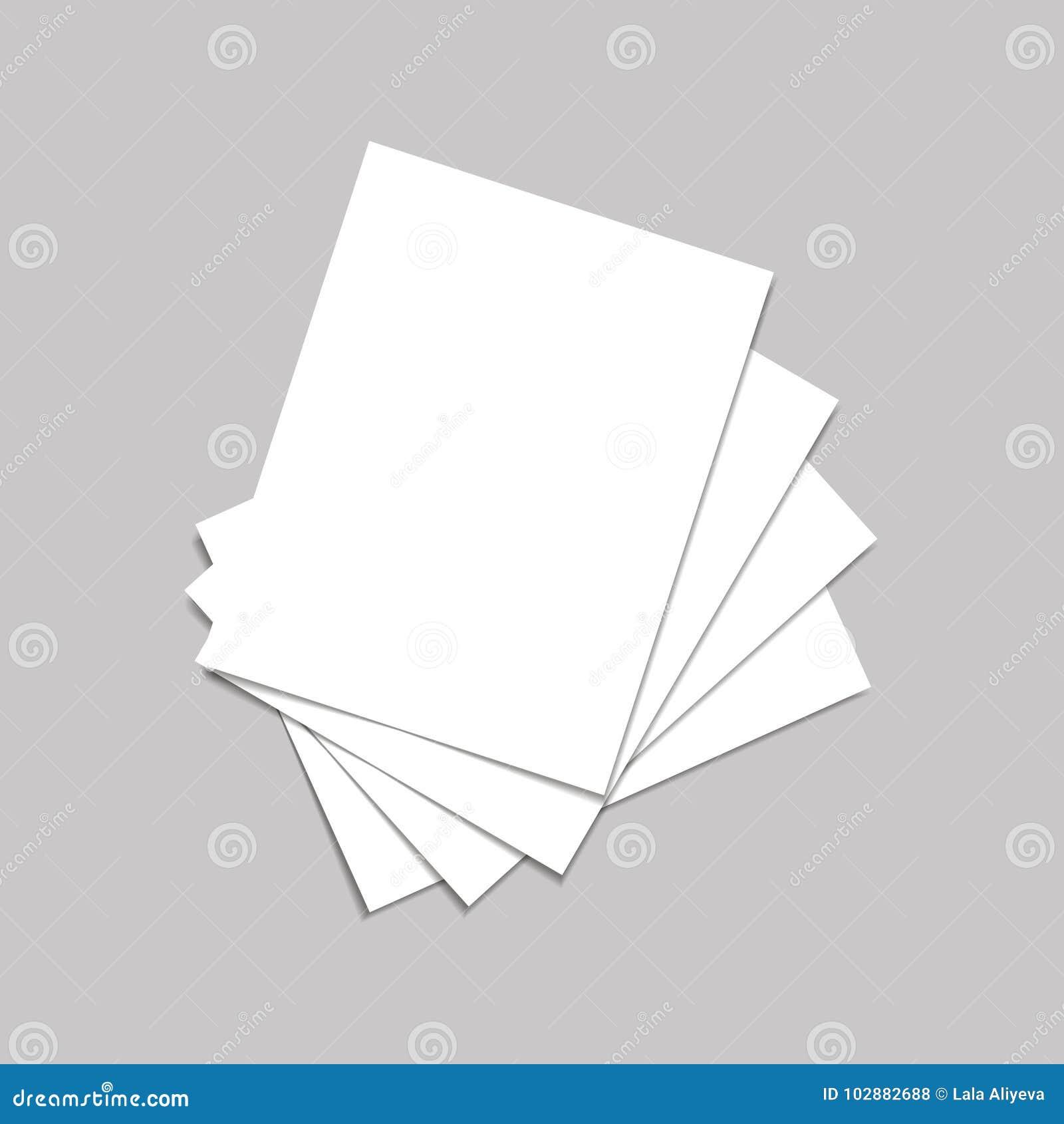 Catálogo vazio, compartimentos, zombaria do livro acima no fundo cinzento Ilustração do vetor