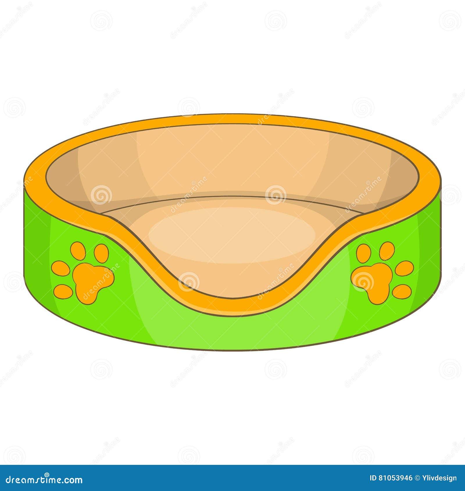 cat basket bed icon  cartoon style stock vector image cartoon dog silhouette clip art cartoon dog faces clipart