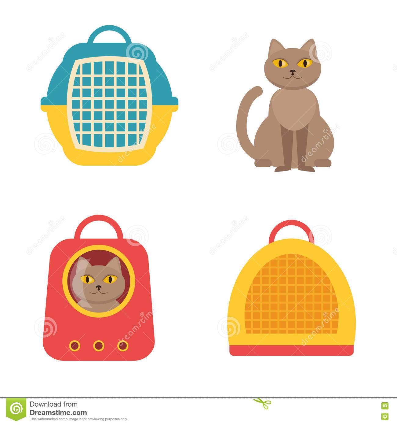 Cat Carrier Geïsoleerde vector