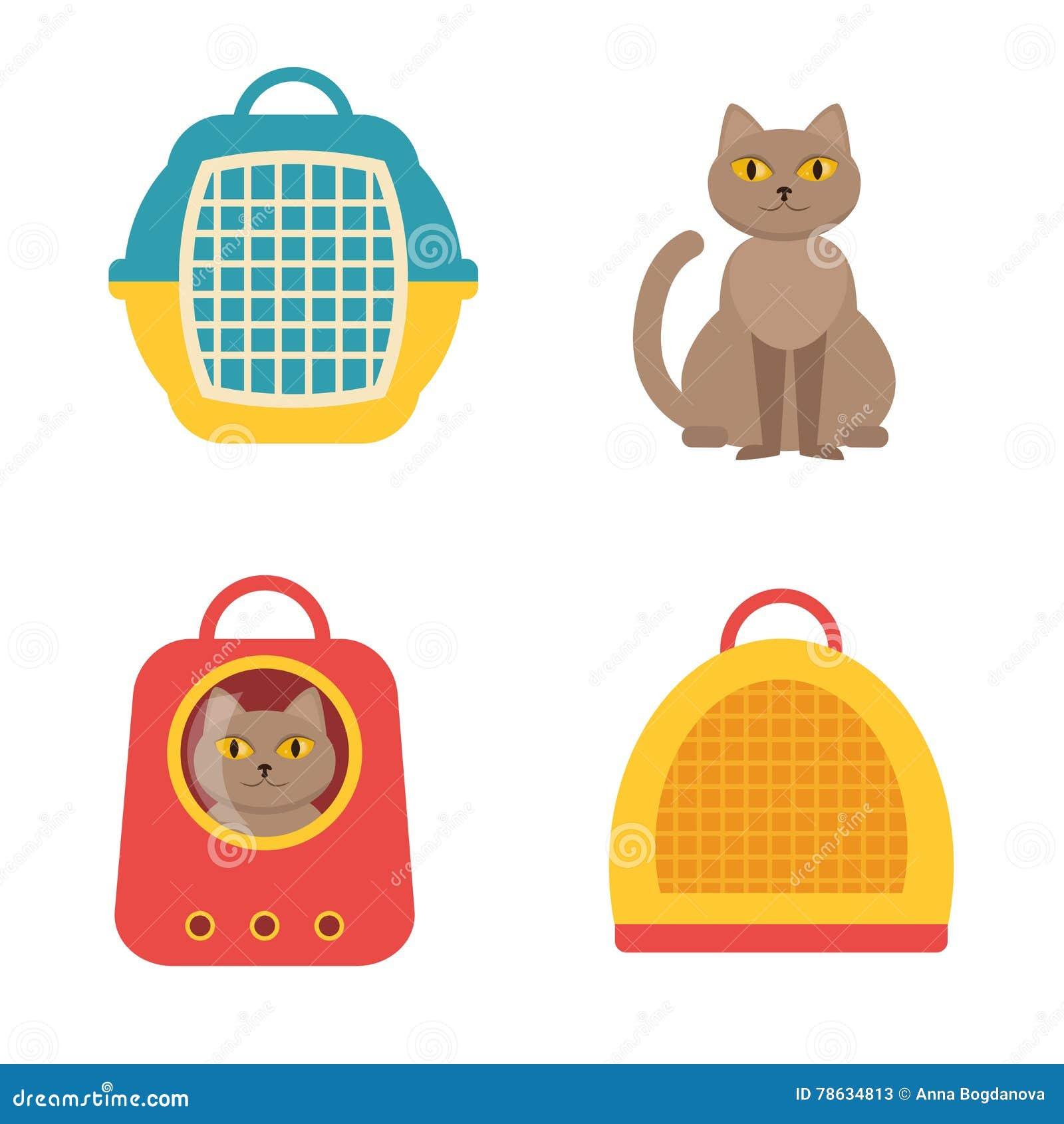 Cat Carrier Vecteur d isolement
