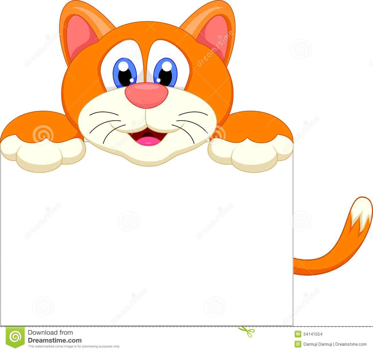 Cat Cartoon Character With Bankg Sign Stock Images - Image: 34141554