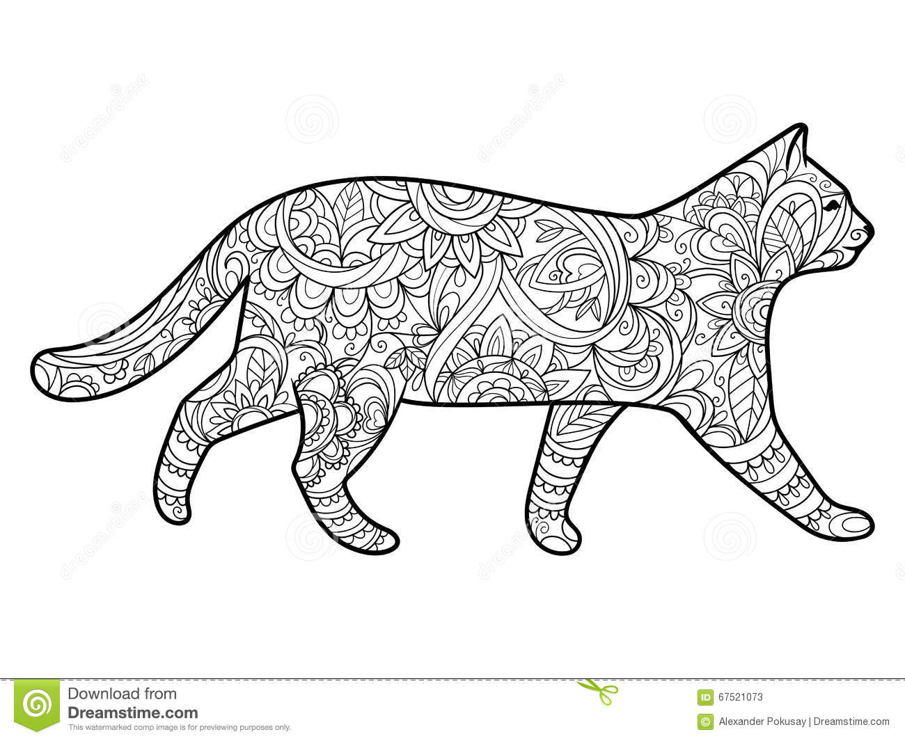 Royalty Free Vector Download Cat Coloring Book