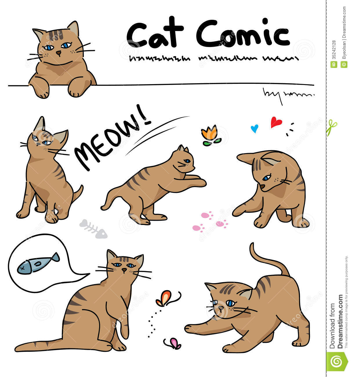 Cat Comic Royalty Free Stock Photos Image 35242128