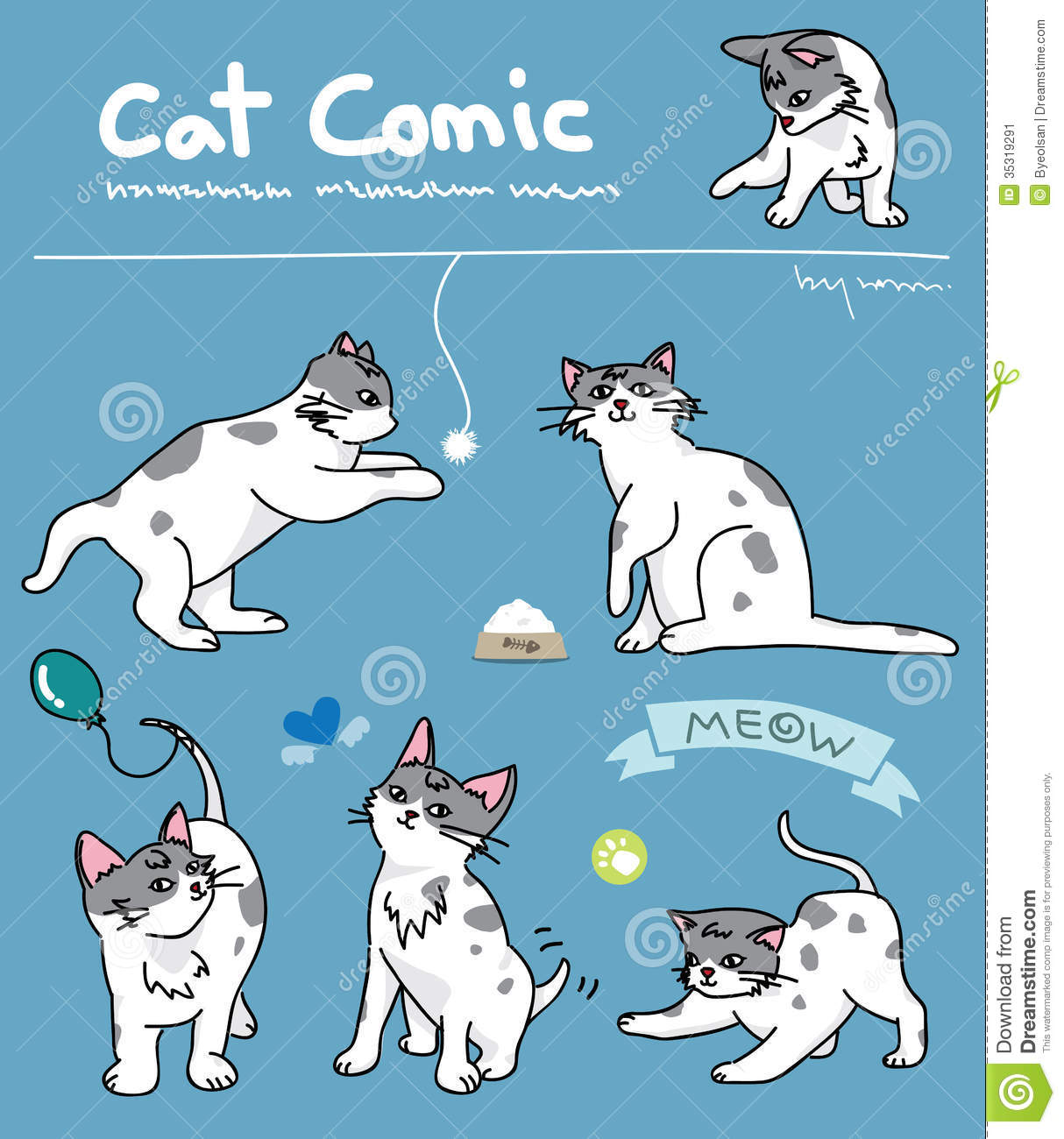 cat comic stock image   image 35319291