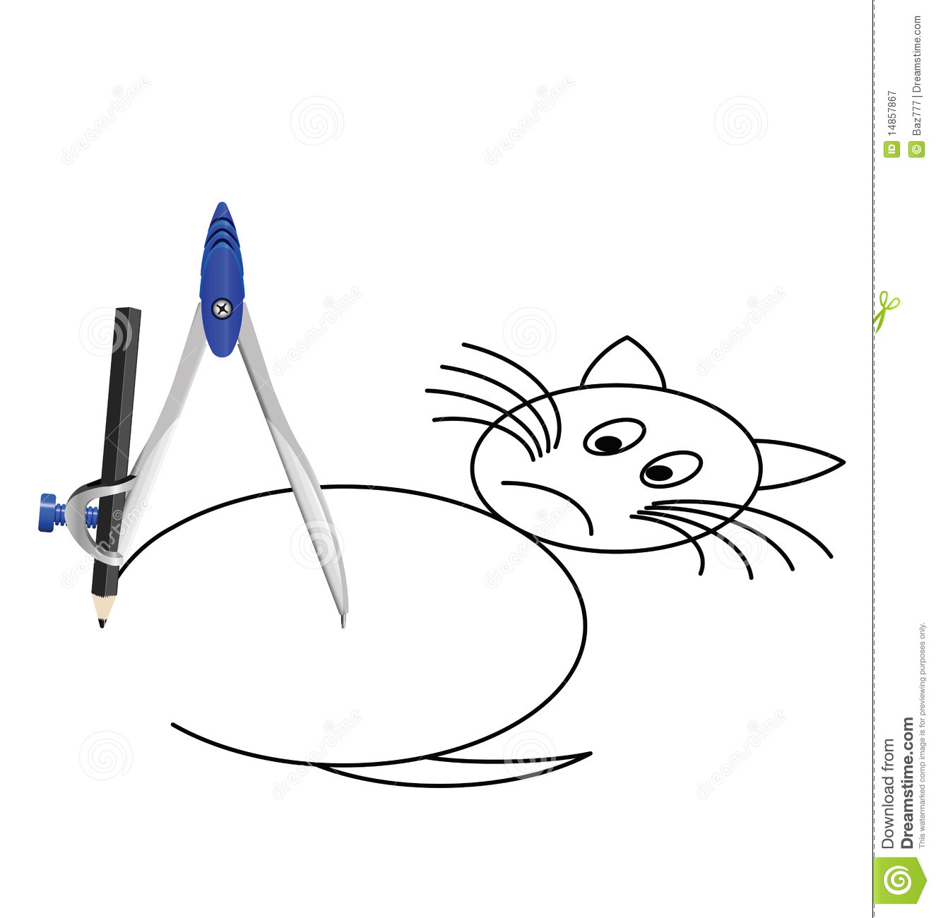 Cat with a compass