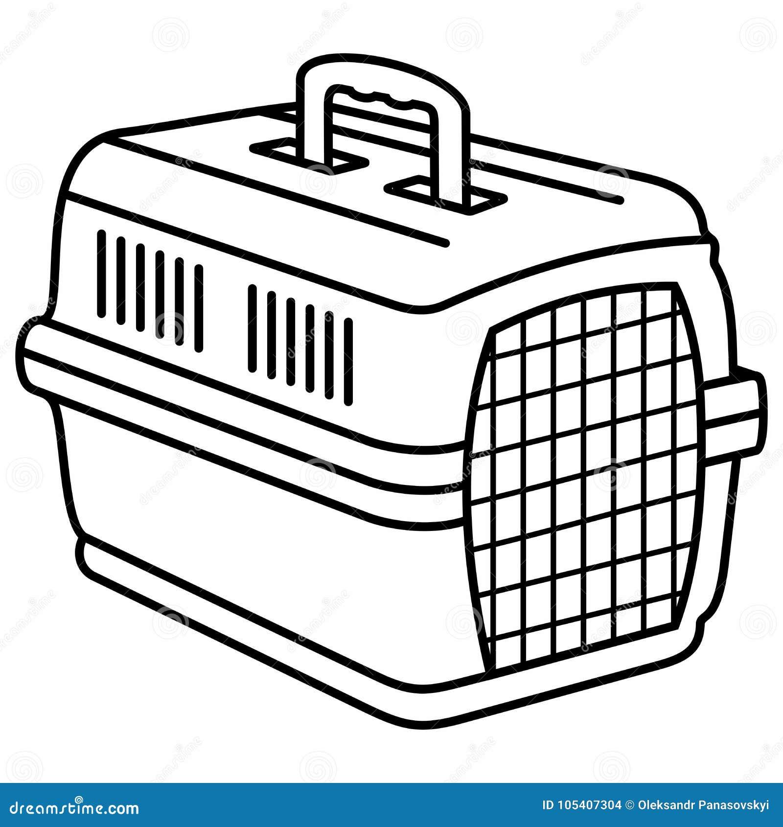 cat dog animal carrier vektor illustrationer  illustration