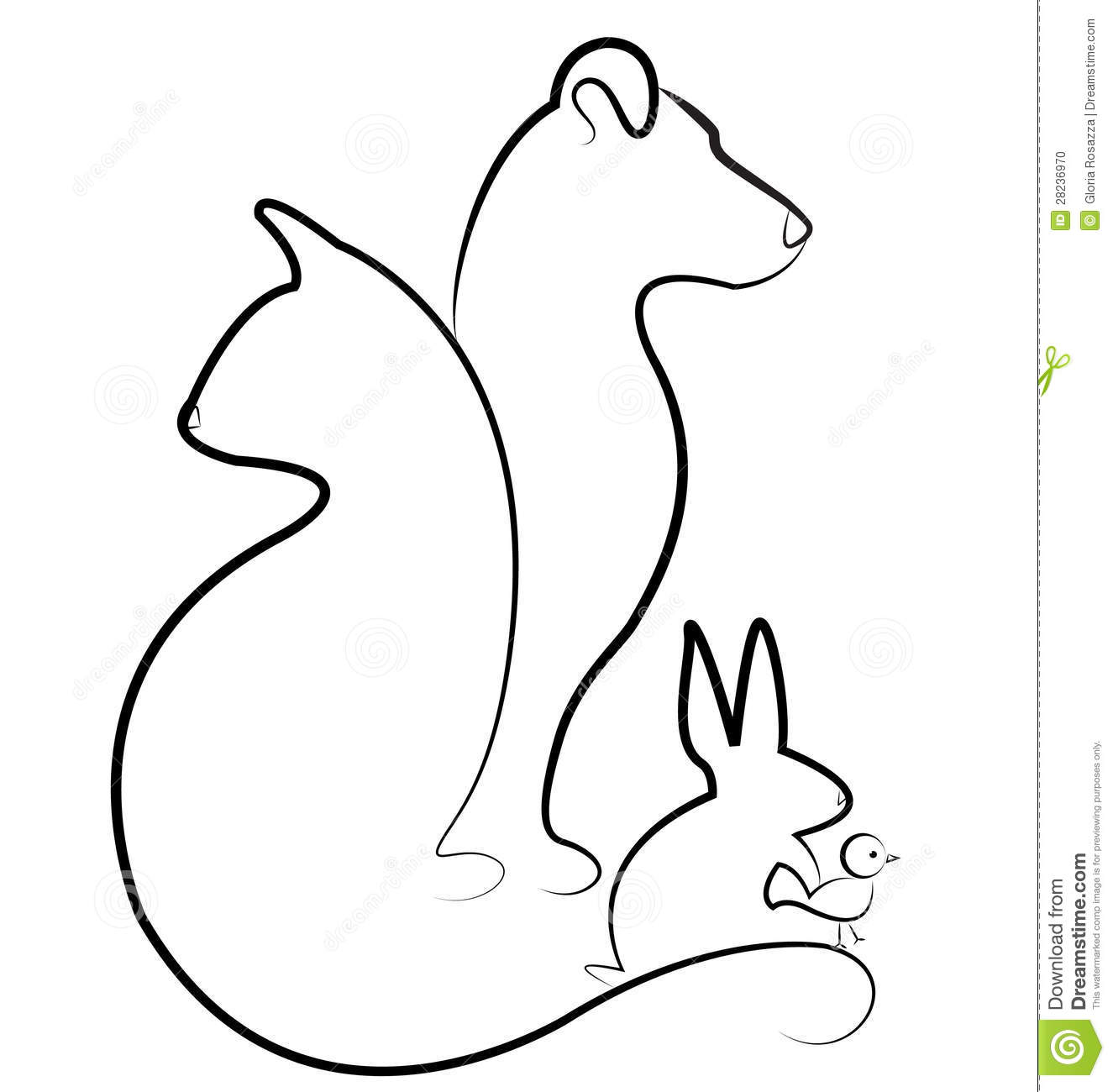 Silhouette Vector Dog Cat Rabbit Bird