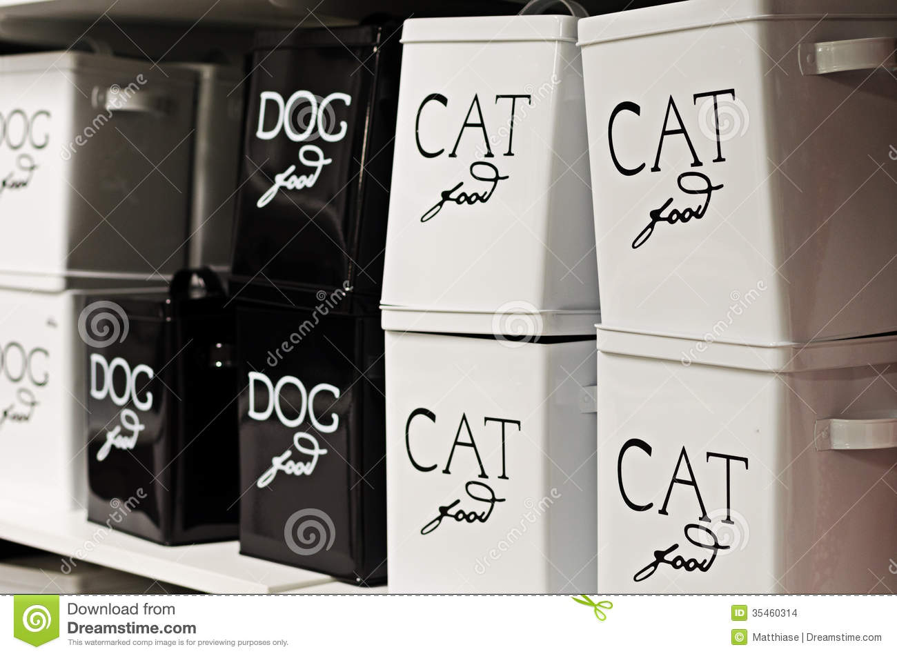 black cat containers dog food