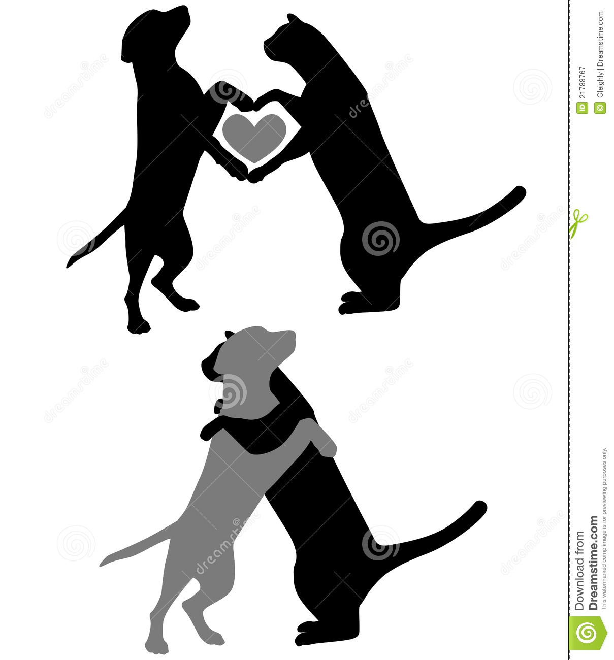 Drawing Of A Dog And A Cat