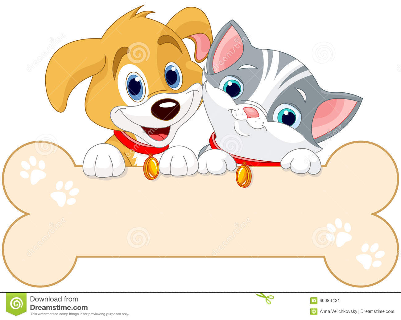 Cat And Dog Sign Stock Vector Image 60084431