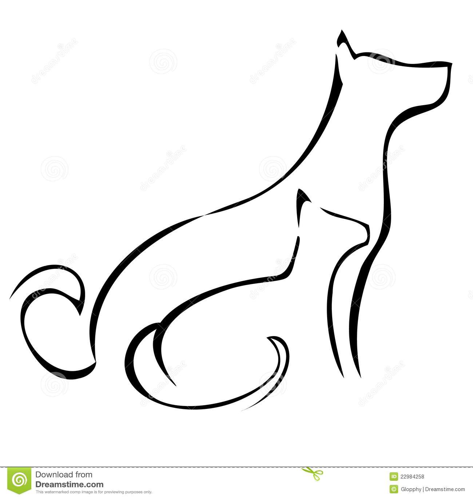 картинки тату кошки собаки же