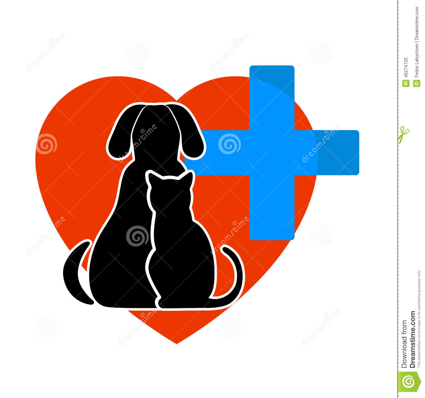 ... the image it is presented cat and dog symbol of veterinary medicine