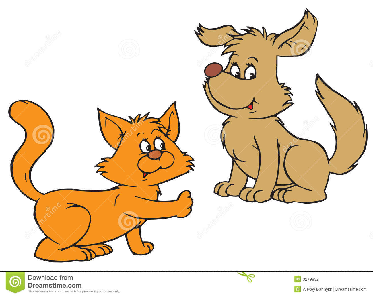 Clipart Dogs And Cats Images & Pictures - Becuo