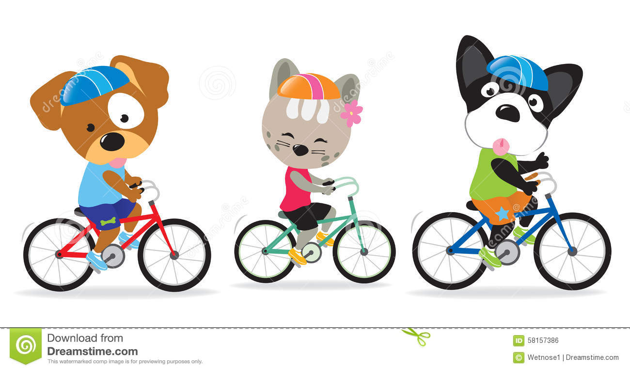 Pictures Of Dogs Riding Bikes