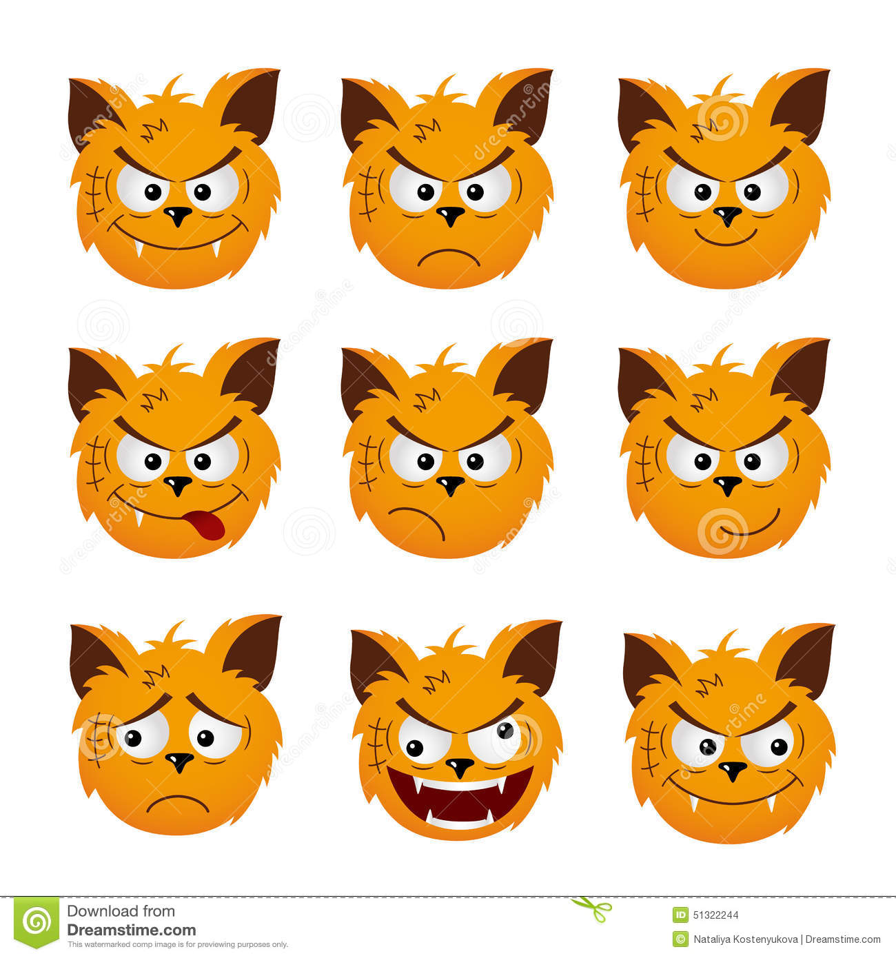 cat emoticons stock vector