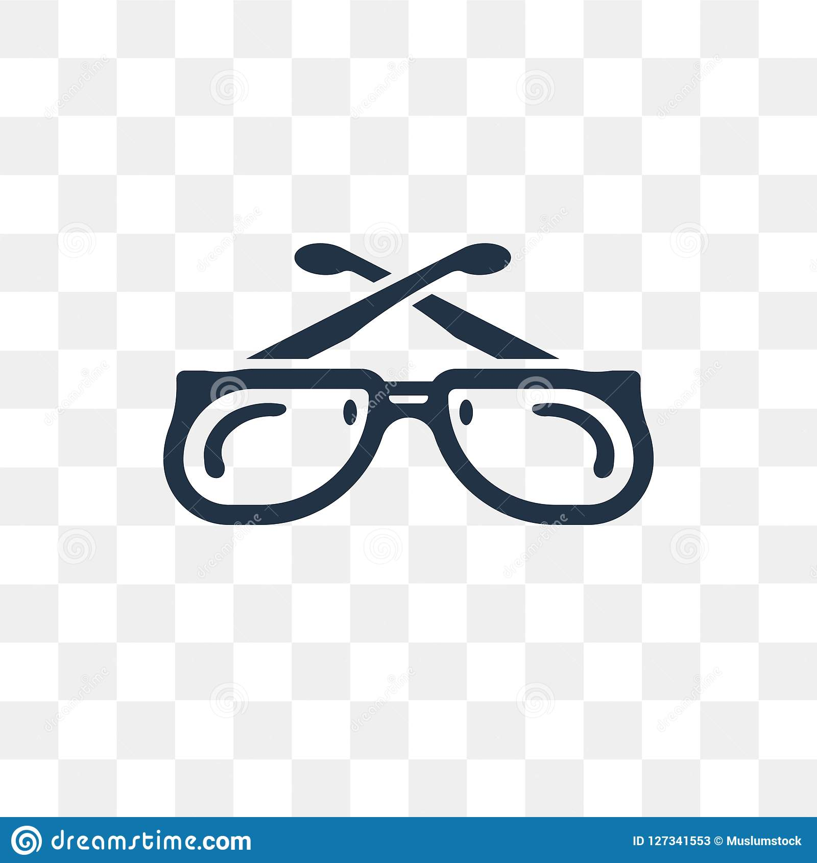 9f2b72ec972 Royalty-Free Vector. Cat Eye Glasses vector icon isolated on transparent  background