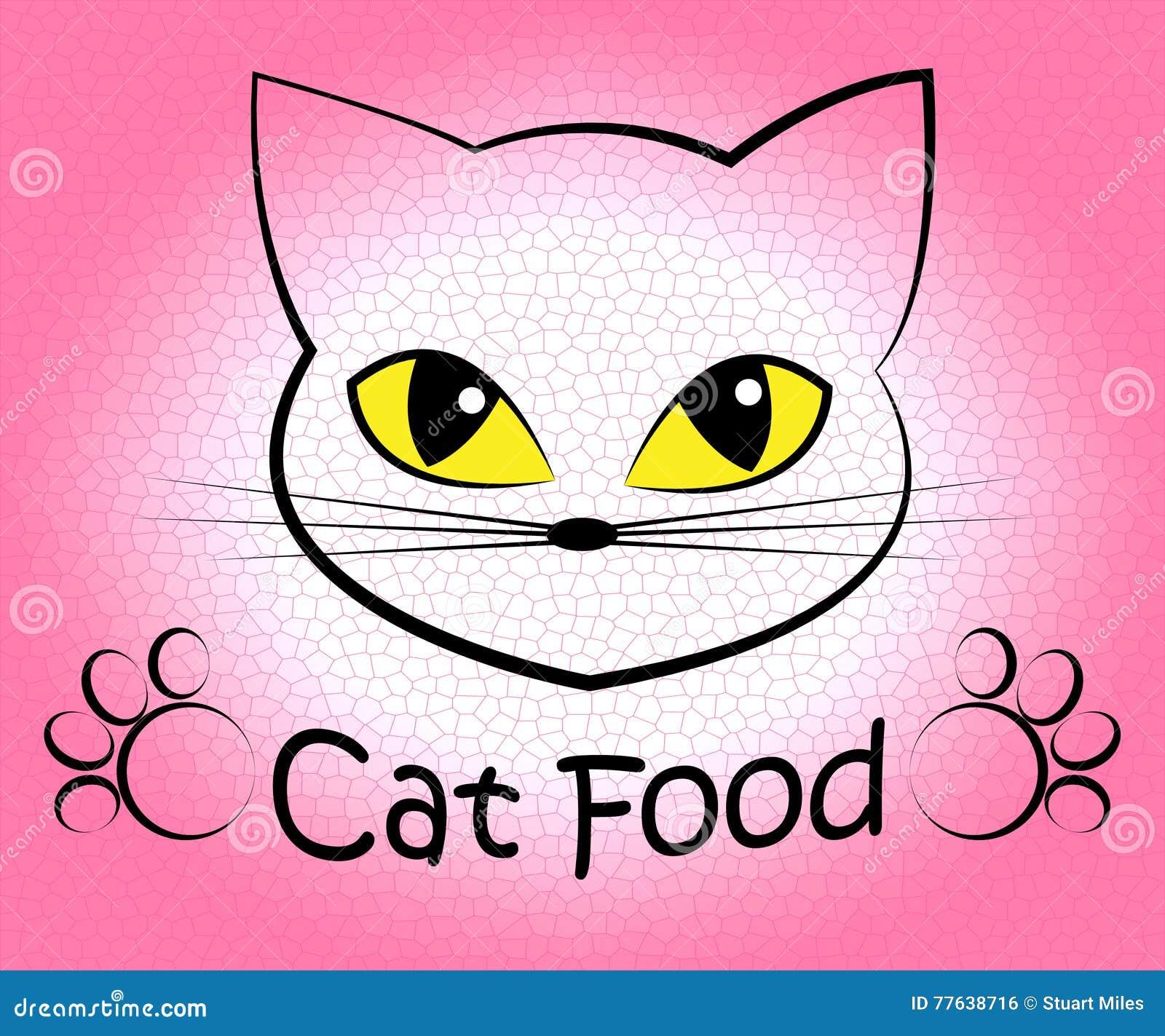 Cat Food Indicates Feline Eating y cocina