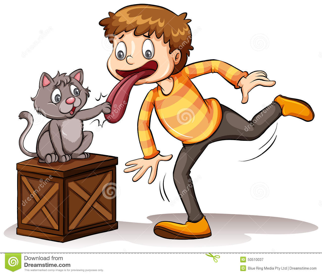 Cat Got Your Tongue Idiom Stock Vector - Image: 50510037