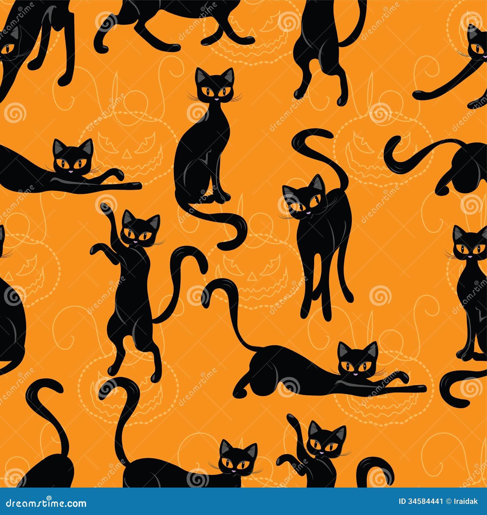 Cat Halloween stock vector. Illustration of autumn, greeting ...