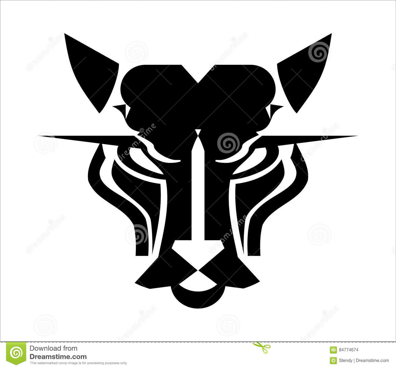 cat head logo panther head icon stock vector