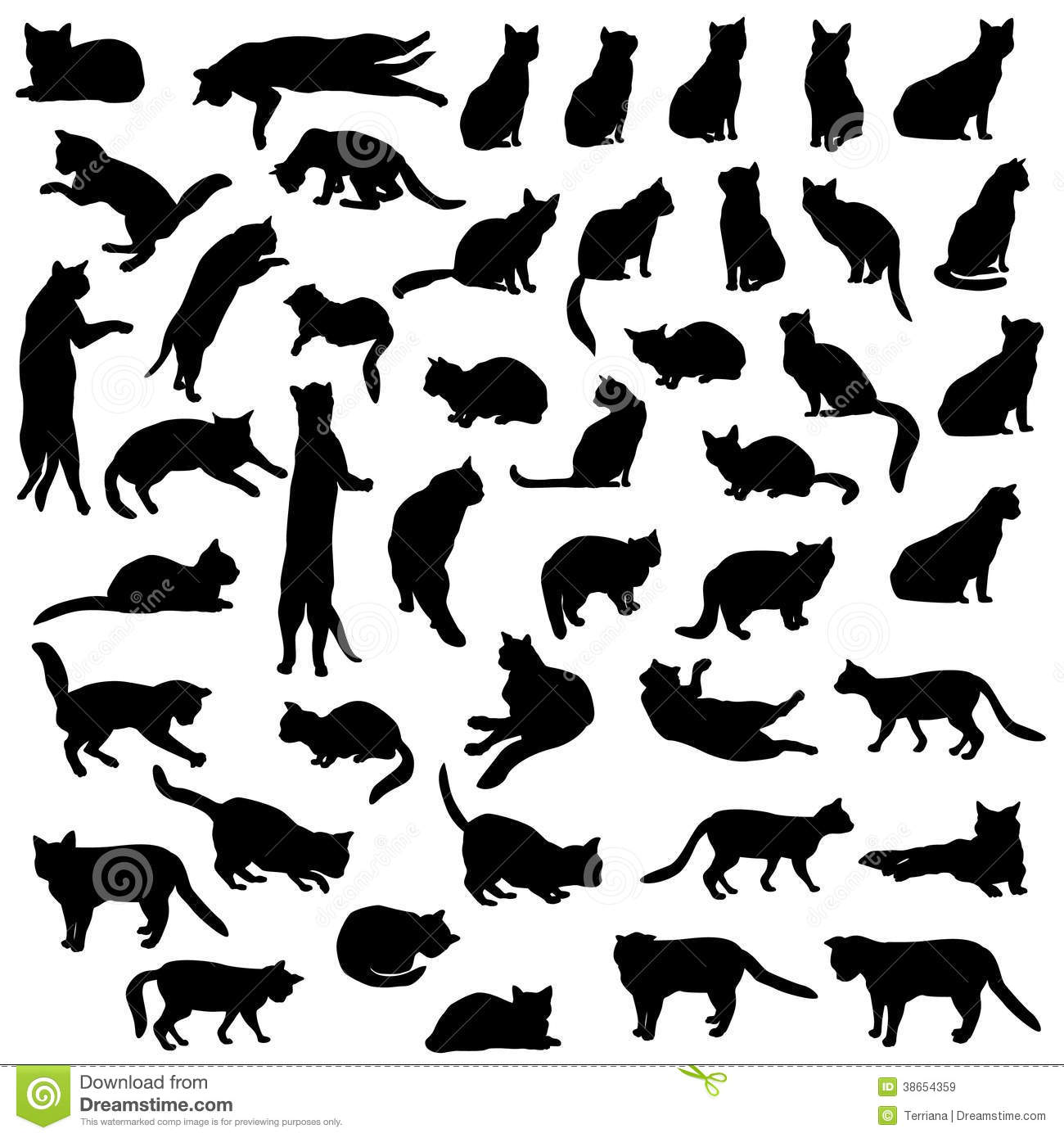 Cat Icon Collection Royalty Free Stock Images Image